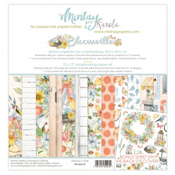 Mintay by Karola - Bloomville | Paper Pad 12 x 12