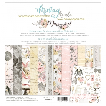Mintay by Karola - Marry Me | Paper Pad 12 x 12