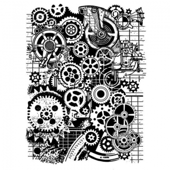 Stamperia Rubberstamp - Mixed Media Gears