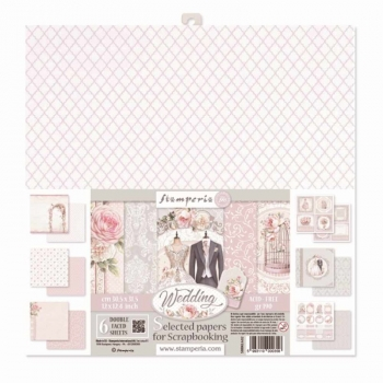 Stamperia - Assortiment Wedding | Paper Pad 12x12
