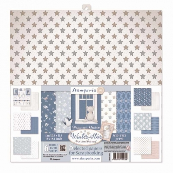 Stamperia - Assortiment Winter Star | Paper Pad 12x12
