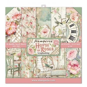 Stamperia - House of Roses | Paper Pad 12x12