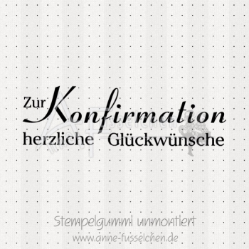 Textstempel - Konfirmation 01