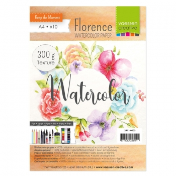 Florence Watercolor Paper - texture | A4 x 10