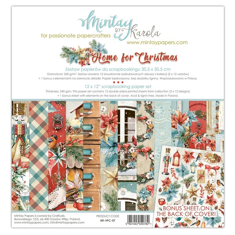 Mintay by Karola - Home for Christmas | Paper Pad 12x12
