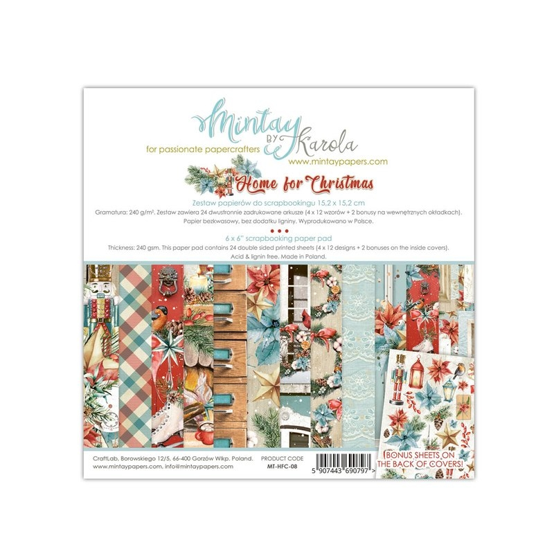 Mintay by Karola - Home for Christmas | Paper Pad 6x6