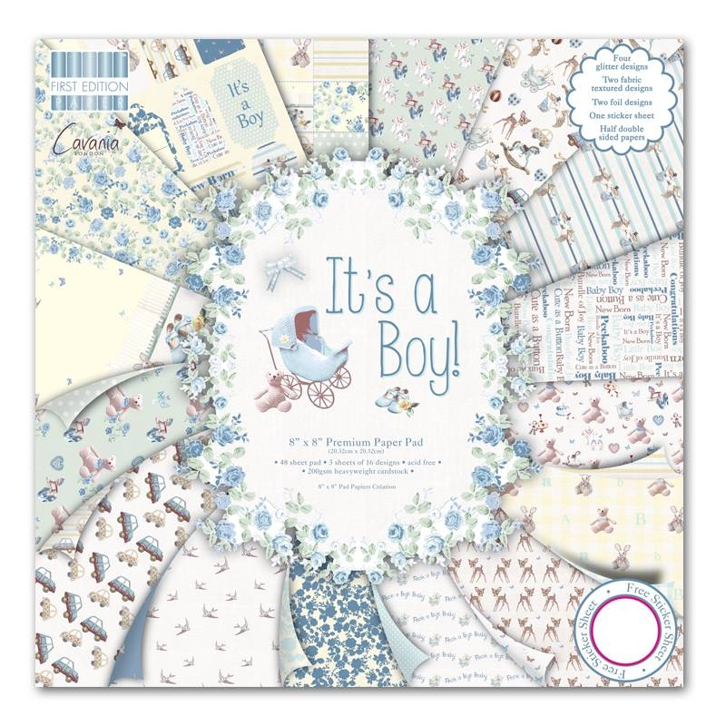 First Edition - It's a Boy | Paper Pad 8x8