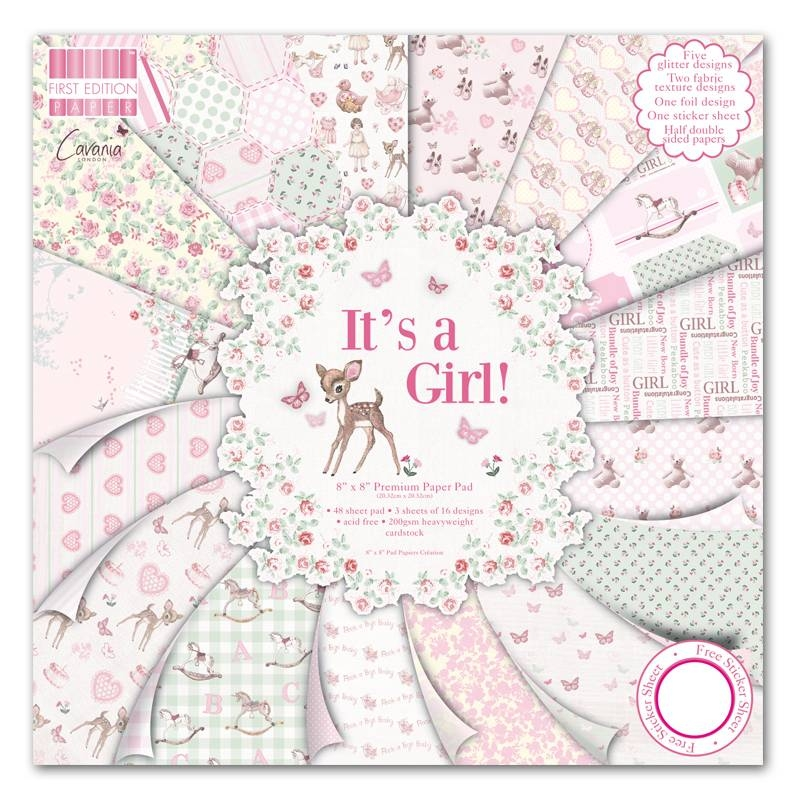 First Edition - It's a Girl | Paper Pad 8x8