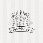 Textstempel - Happy Birthday 01 (kl)